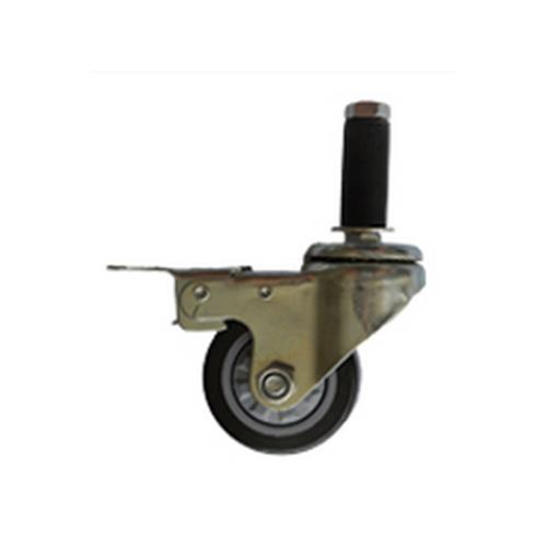 插杆刹车聚氨酯、弹力胶轮